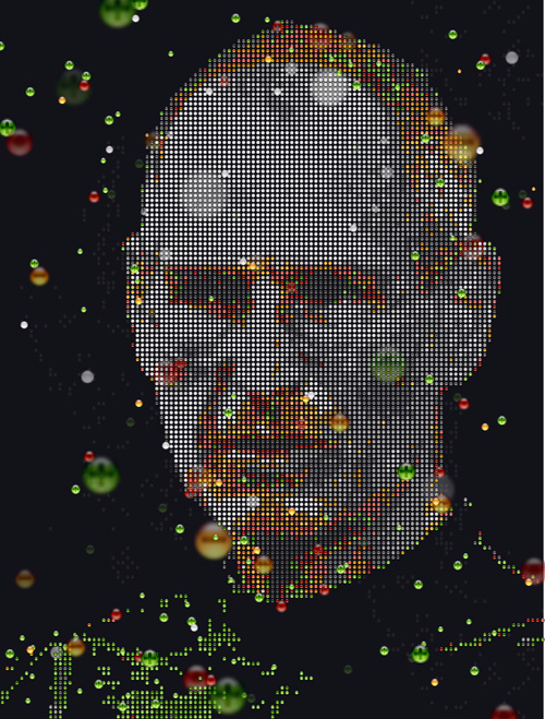 Aqua IV: Window Control, a portrait of Steve Jobs by johannes p osterhoff